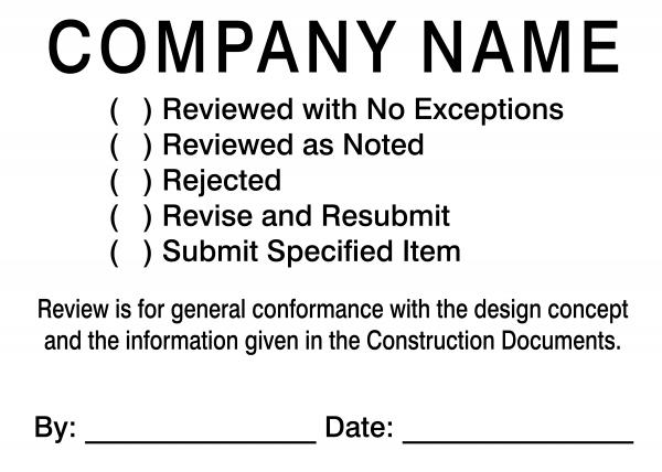 Plan & Blueprint Stamp - Simply Plan Reviewed Form Stamp