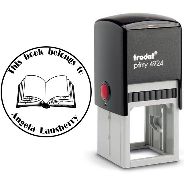 Round Open Book Stamp