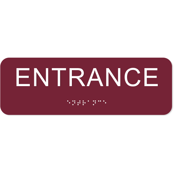 Entrance ADA Sign