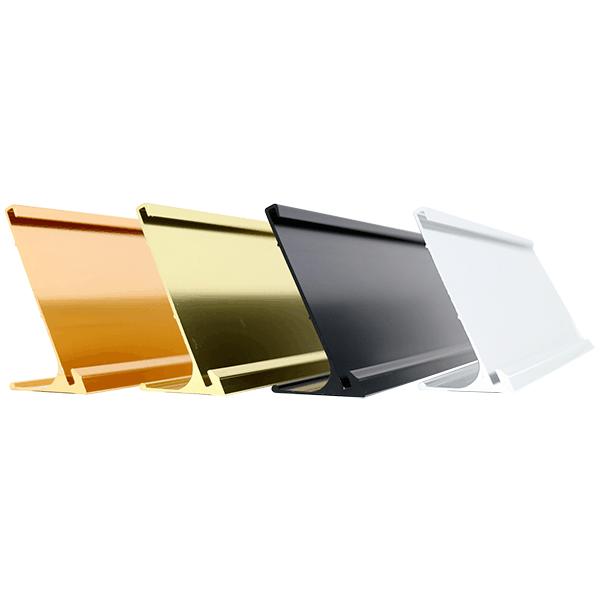 Aluminum Desk Sign Holder Only | Multiple Sizes