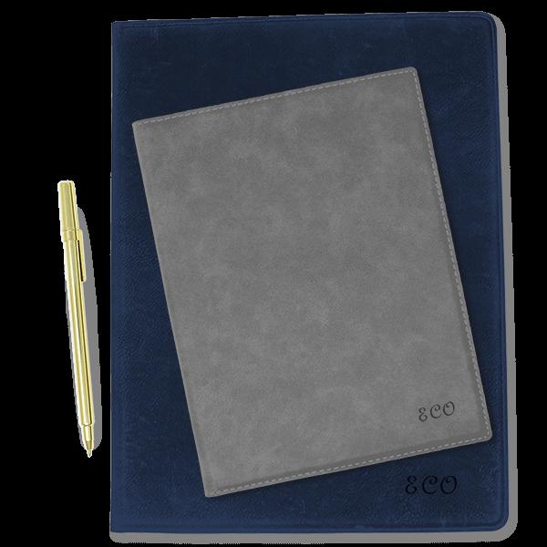 Large Custom Script Initials Leatherette Folio