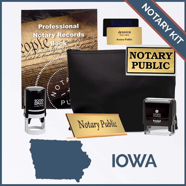 Iowa Deluxe Notary Kit