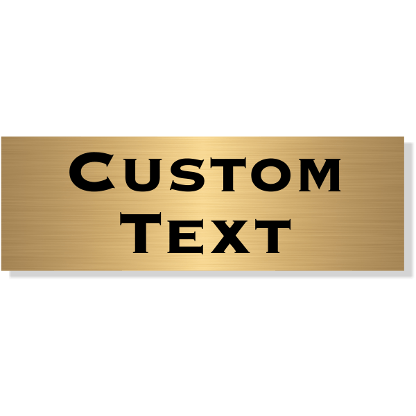 "Double Line Custom Text Brass Plate   1"" x 3"""