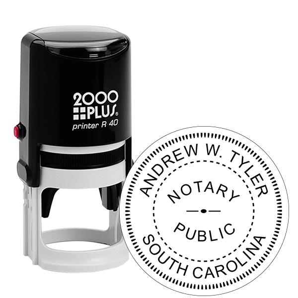 South Carolina Notary Round Stamp