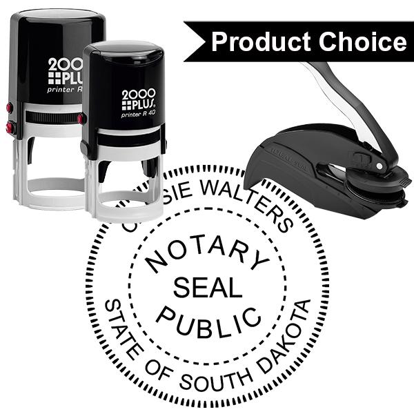 South Dakota Notary Round with Seal