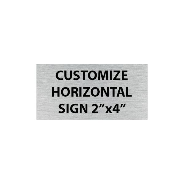 "Engraved Sign Horizontal 2"" x 4"""