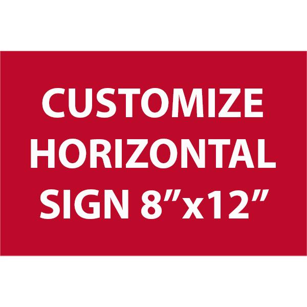 "Engraved Sign Horizontal 8"" x 12"""