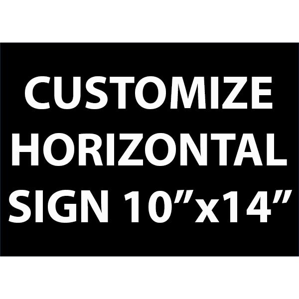"Engraved Sign Horizontal 10"" x 14"""
