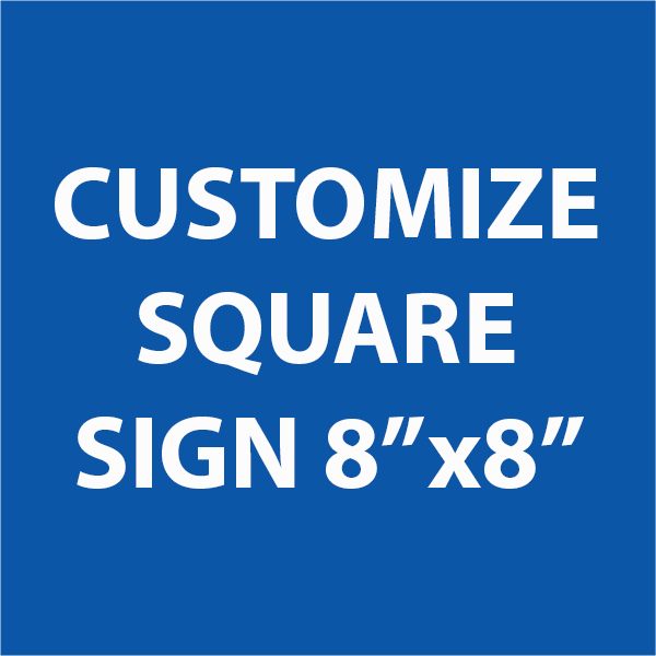 """Engraved Sign Square 8"""" x 8"""""""