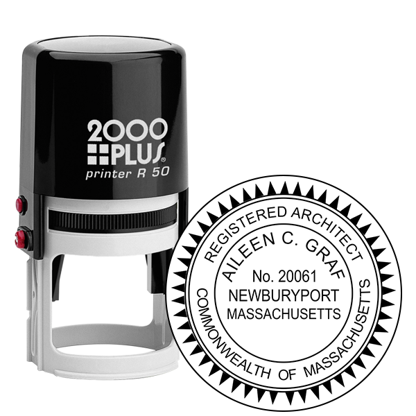 State of Massachusetts Architect Stamp
