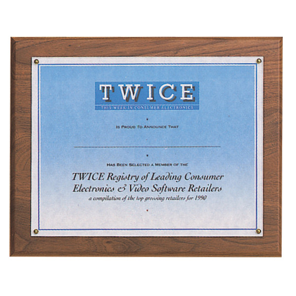 Certificate Award Plaque