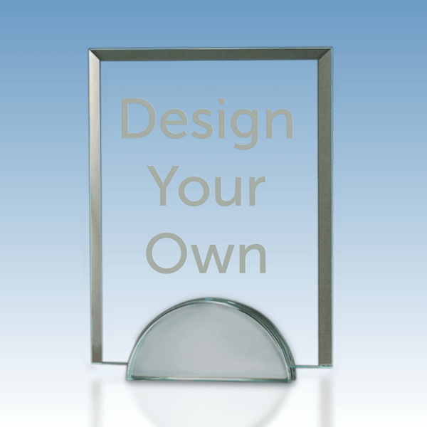 """Contemporary Beveled Clear Glass Award 