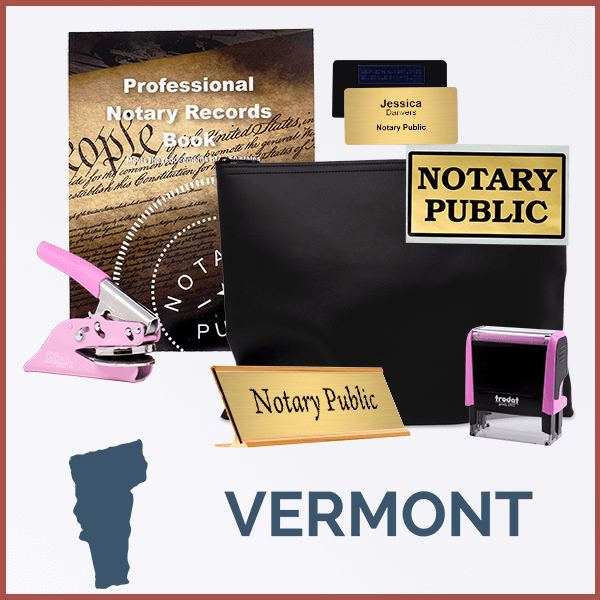Vermont Pink Deluxe Notary Kit