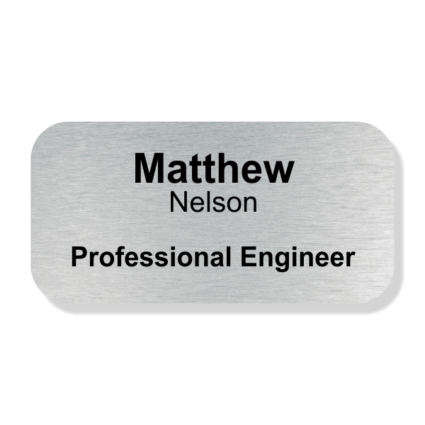 Engraved Professional Engineer Name Tag