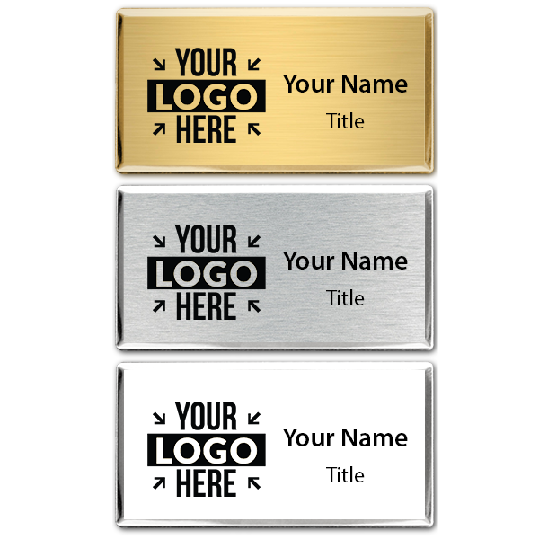 Engraved Executive Beveled Badges - Medium Rectangle