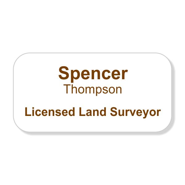 Licensed Land Surveyor Full Color Name Tag