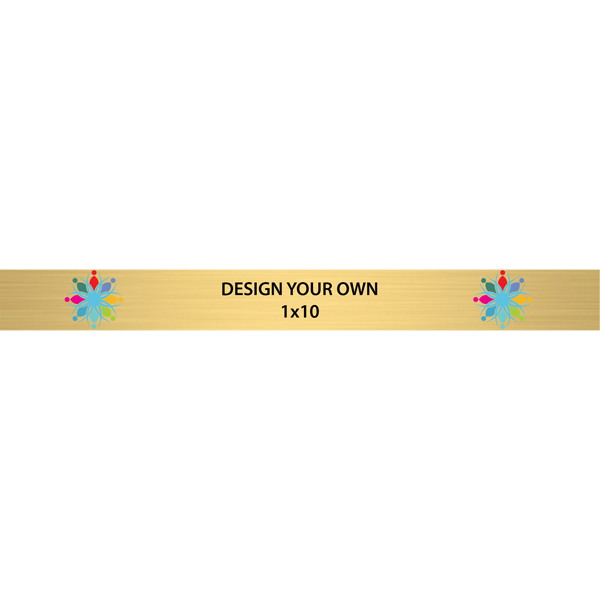 """Horizontal Full Color Brass Signs 1"""" x 10"""""""