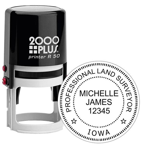 State of Iowa Land Surveyor Stamp Seal