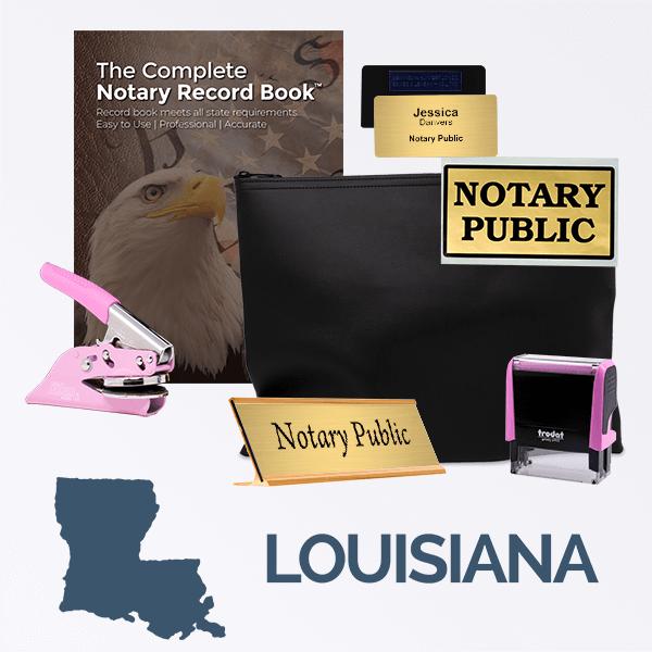Louisiana Pink Deluxe Notary Kit