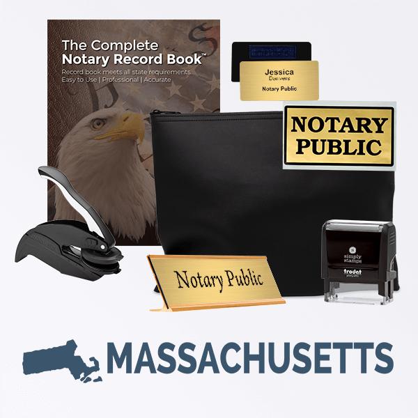 Massachusetts Deluxe Notary Kit
