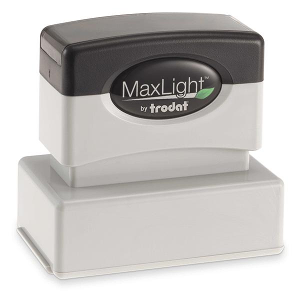 MaxLight Custom Pre-Inked Stamp - MAX-125S -  Black Ink