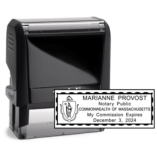 Notary Rectangle Stamp   Self-Inking