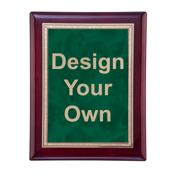 "Rosewood and Emerald 8"" x 10"" Wall Plaque"