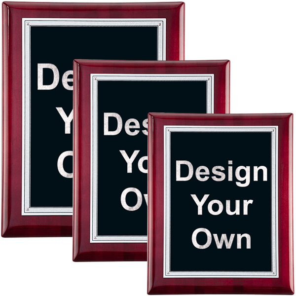 Rosewood and Black Wall Plaque - Multiple Sizes Available
