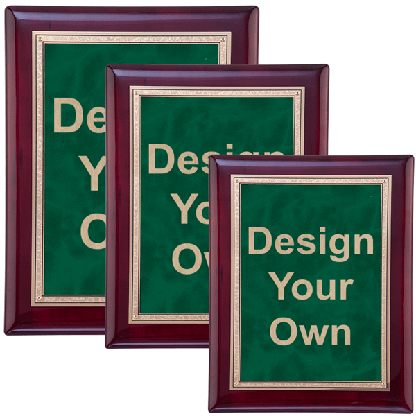 Rosewood and Emerald Wall Plaque - Multiple Sizes Available
