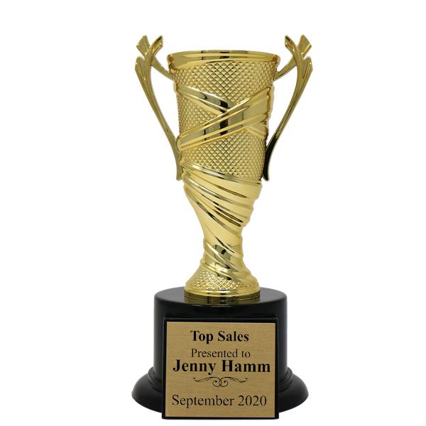 Sales Goals Textured Cup Award Trophy