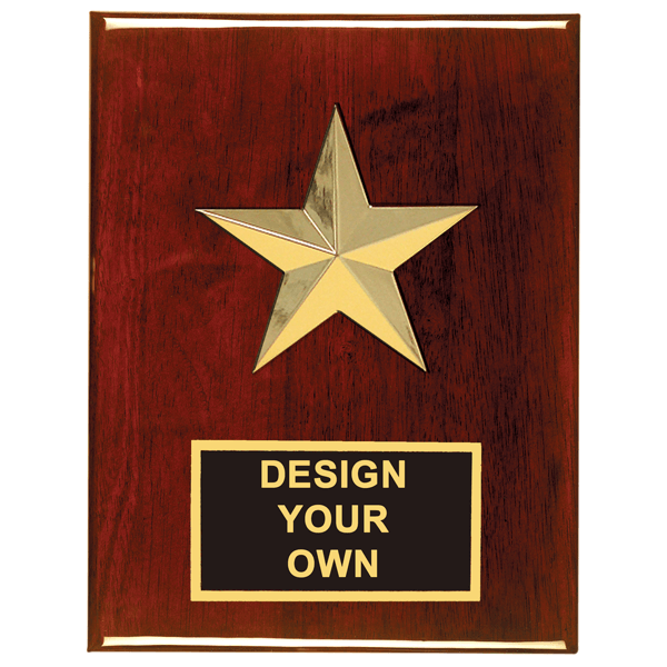 """Star Casting 8"""" x 6"""" Plaque with Custom engraved Plate"""