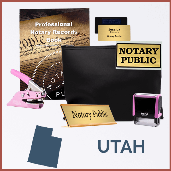 Utah Pink Deluxe Notary Kit