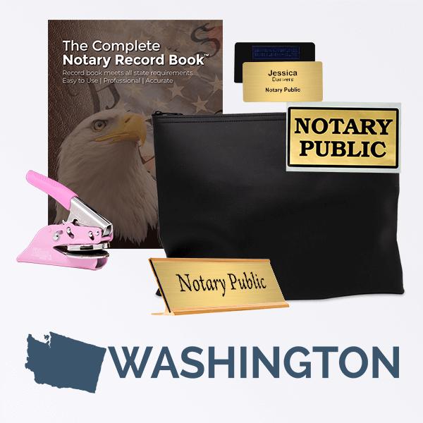 Washington Pink Deluxe Notary Kit