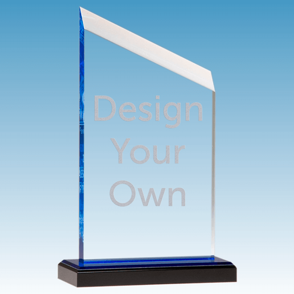 "Zenith Series Acrylic Award w/ Blue Accents | 4.5"" x 7.5"""