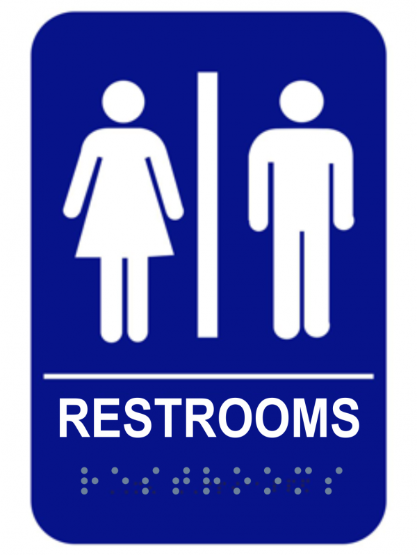ADA Braille Unisex Restroom Sign