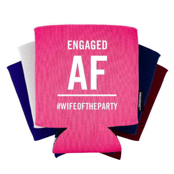 Engaged AF Bridal Shower Koozie®