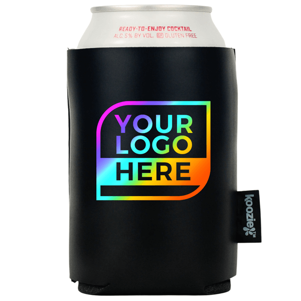FULL COLOR Logo Koozie® Vegan 2-sided Leather Can Cooler
