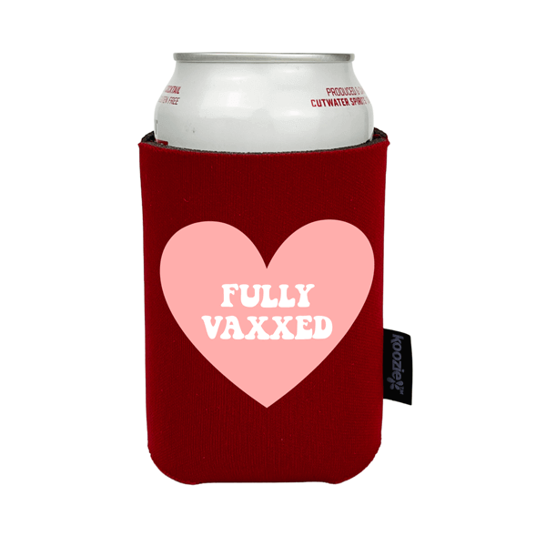 Koozie® Fully Vaxxed with Heart Full Color Drink Cooler