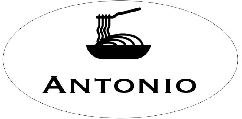 1 Line Italian Restaurant Oval Name Badge A