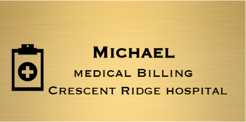 Medical Billing Rectangle Name Badge