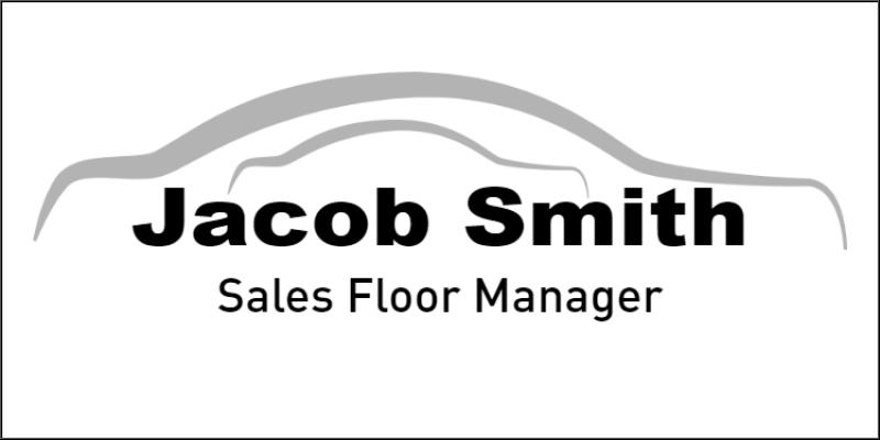 Full Color Car Dealership Name Tag
