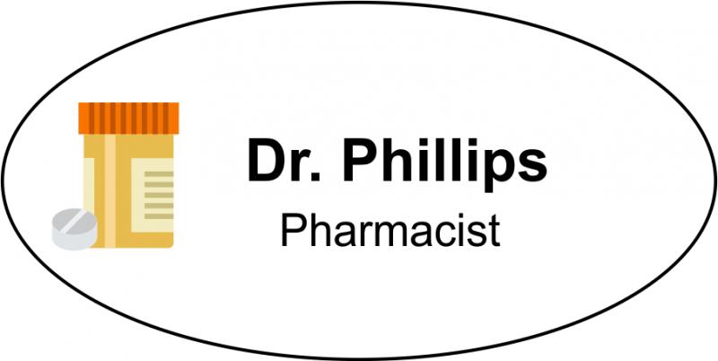 Pharmacist Oval Name Badge