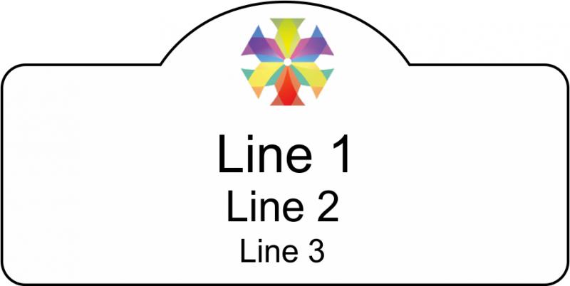 UV Printed Name Badge Crest Shape