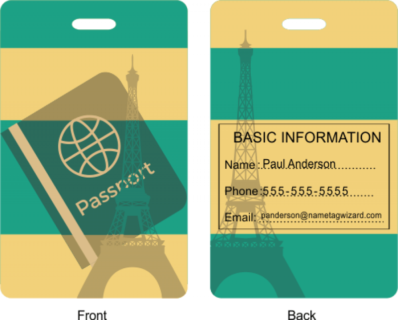 Passport Design Luggage Tag