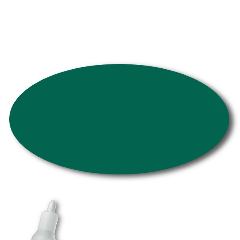 Reusable Chalkboard Green Oval Name Tag