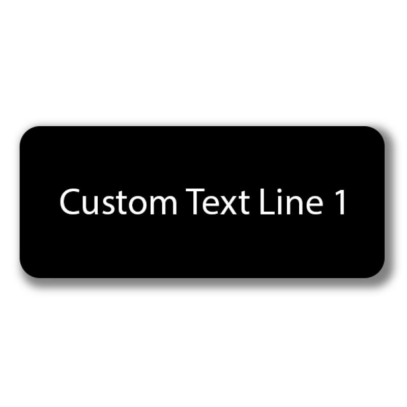 1 Line Laser Engraved Custom Name Badge