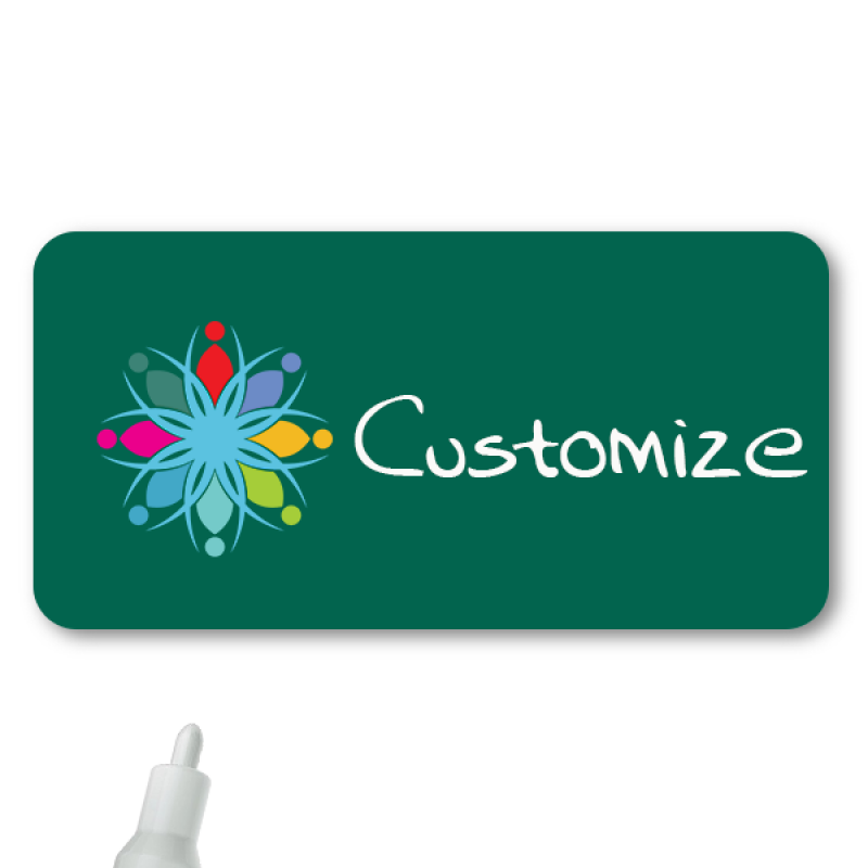 Magnetic Rectangle Chalkboard Reusable Name Tag