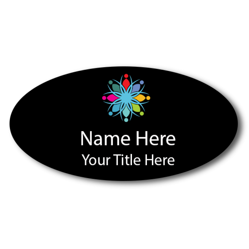 Magnetic Full Color Custom Oval Name Tag
