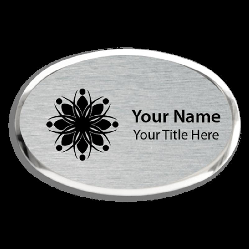 Magnetic Engraved Executive Beveled Oval Badges