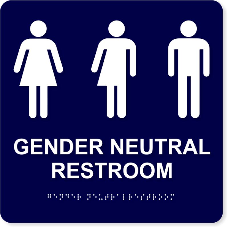 "ADA Compliant Gender Neutral Restroom Sign   10"" x 10"""